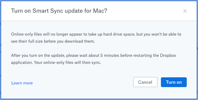 Smart Sync update for Mac