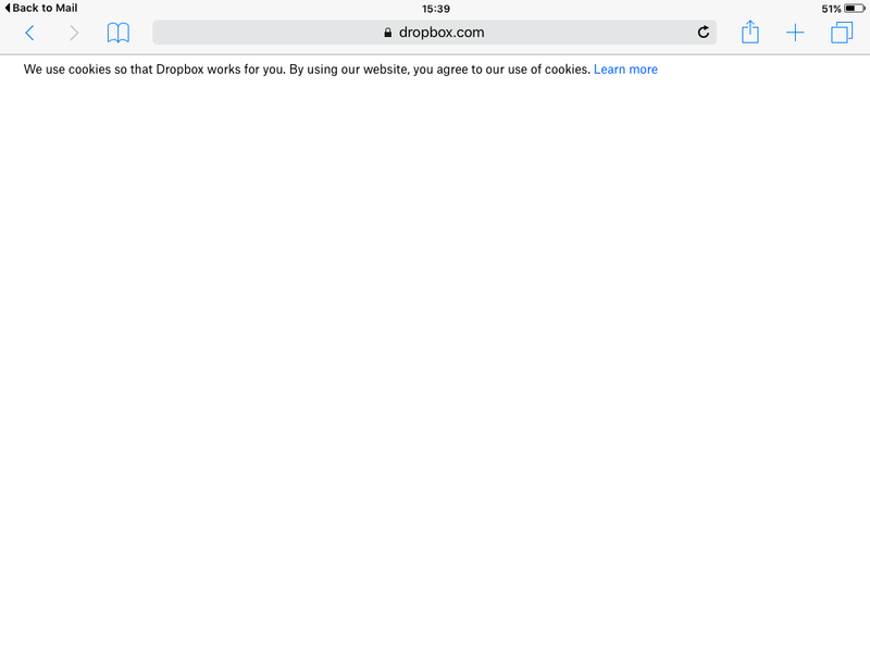 When I click on the link to the pictures on my iPad 2 with iOS 9.3.5, this message appears.