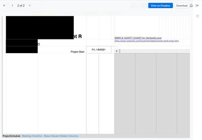 Spreadsheet on the web