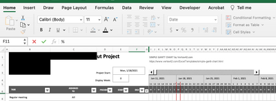 Original excel spreadsheet