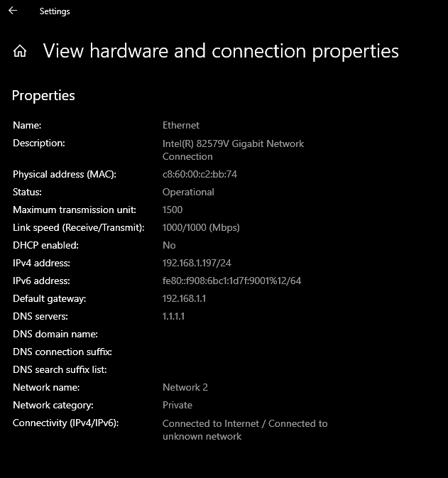 hardware is gigabit