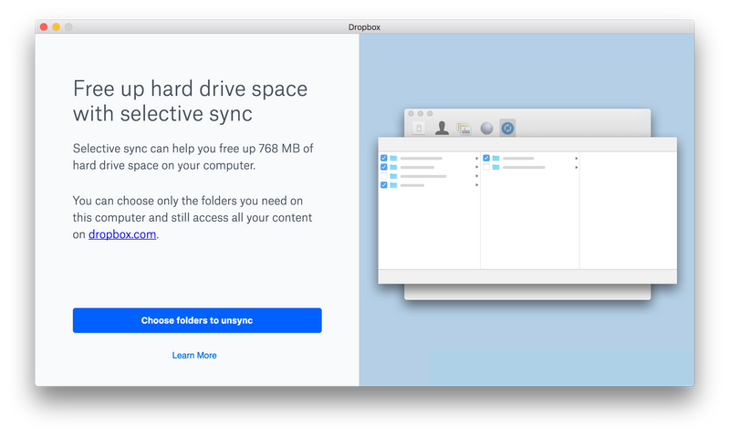 Low Disk Space Modal