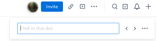 Search bar (you can enter this mode by control/command + F)