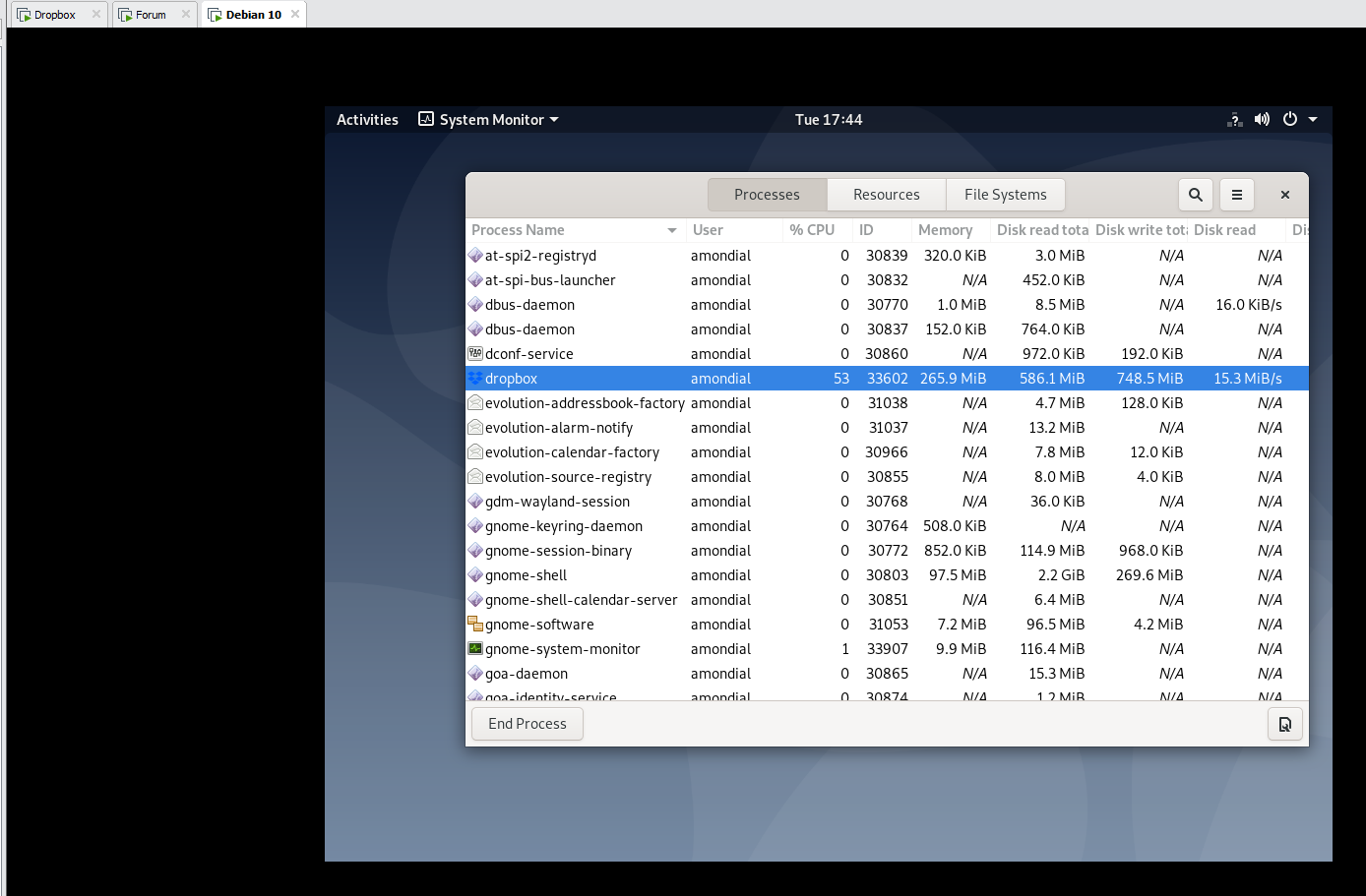 Solved: Dropbox GUI gone after Debian 10 Buster Upgrade