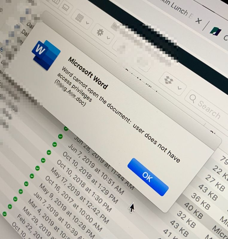 Solved: Word cannot open the document: user does not have