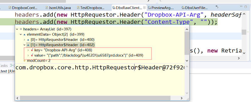 HTTP API Path contain Chinese response 409 path no... - Dropbox