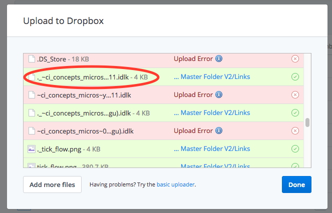 dropbox upload errorpng
