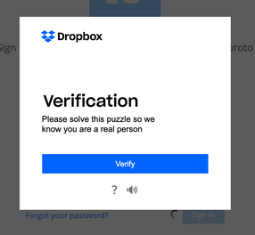 Verification initial page