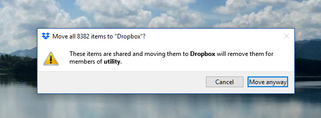 Solved: Constant prompts when I delete or move files