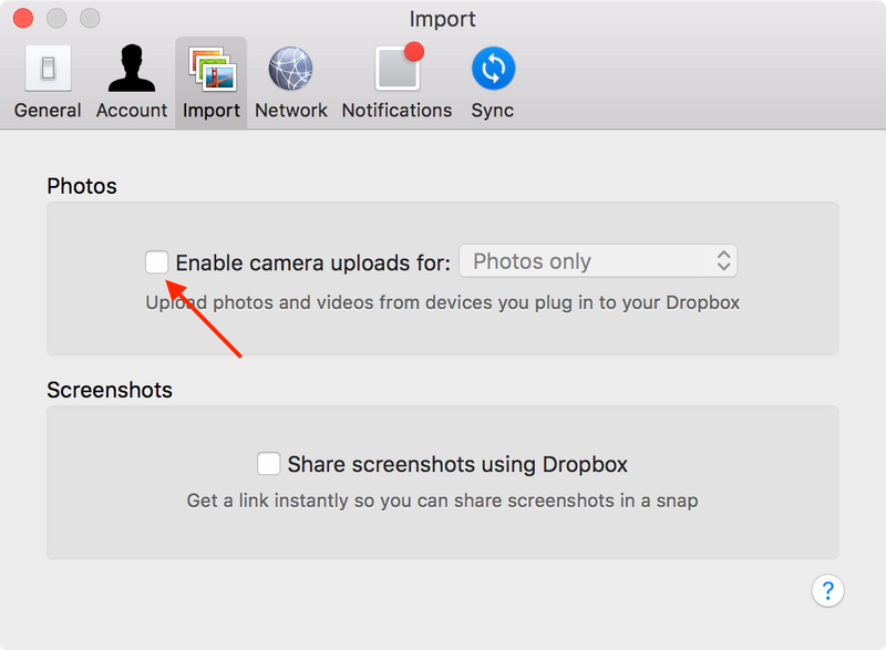 Solved: Stop Dropbox desktop app automatically importing p