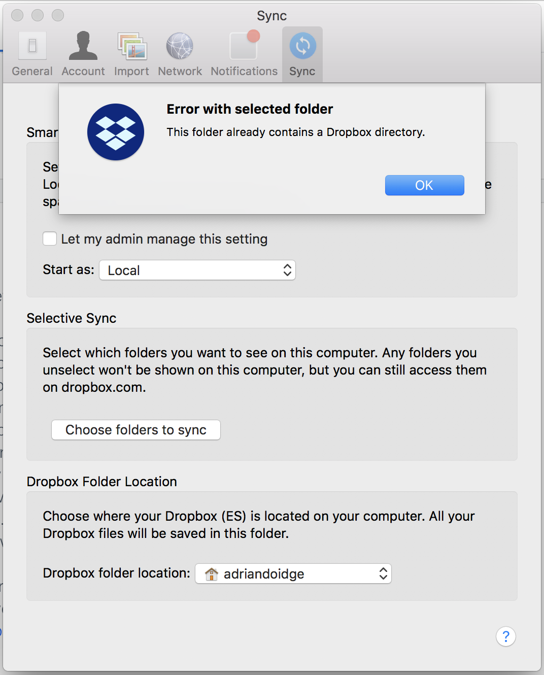 Solved: Reconnecting synch to external drive? - Dropbox