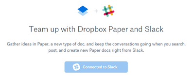 Trouble connecting Paper to Slack