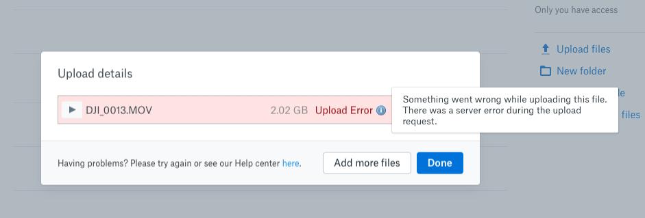 Solved: Upload Error (server error) - Tried Multiple Brows