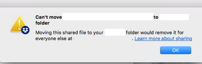 Error moving files from shared folder on Business Account - MacOs High Sierra