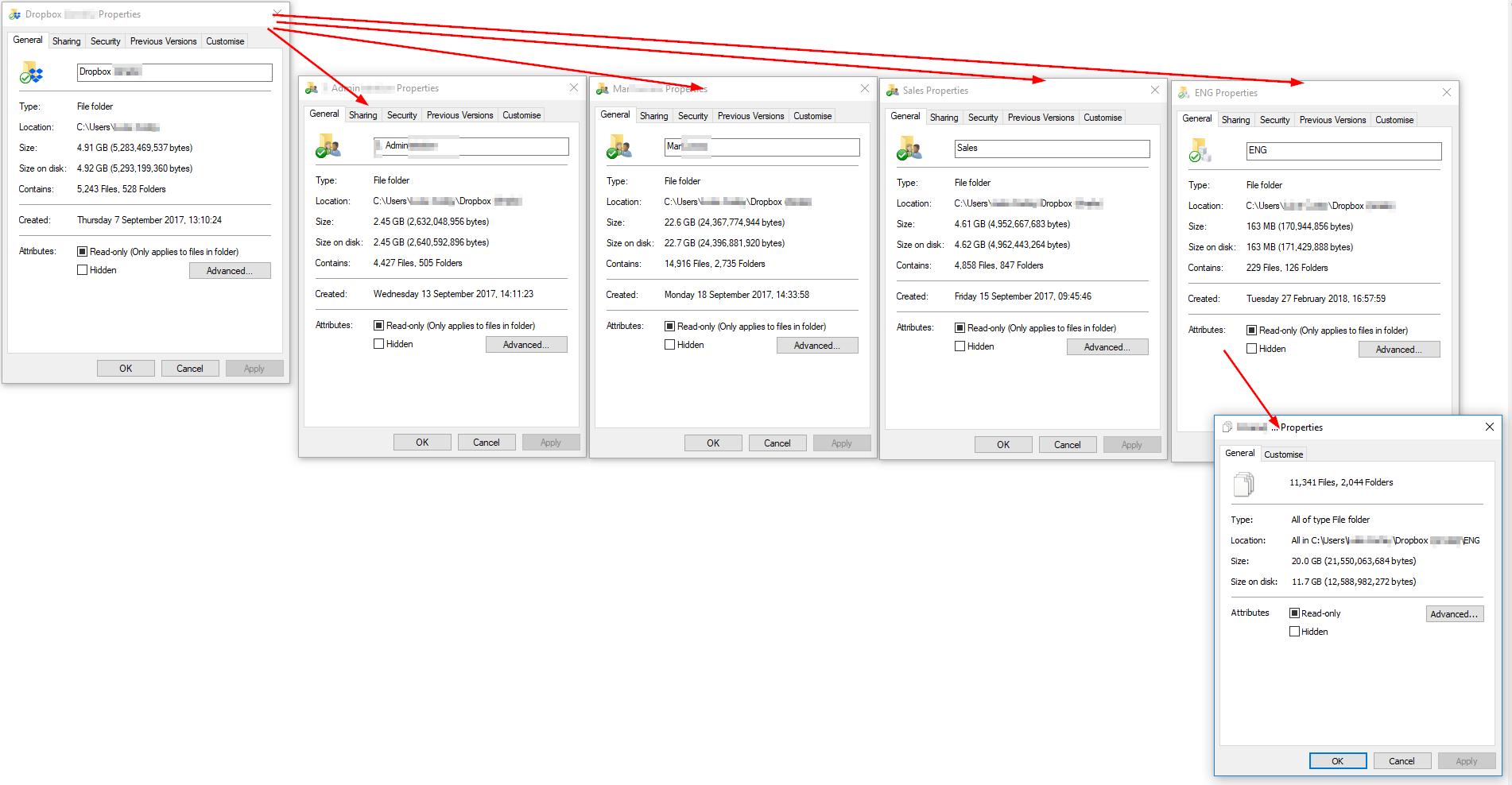 Solved: Dropbox folder size is wrong - Dropbox Community