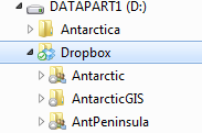 This is the Ddrive where I steered the dropbox folder  in the advanced settings