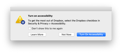 Mac client keeps asking to turn on accessibility