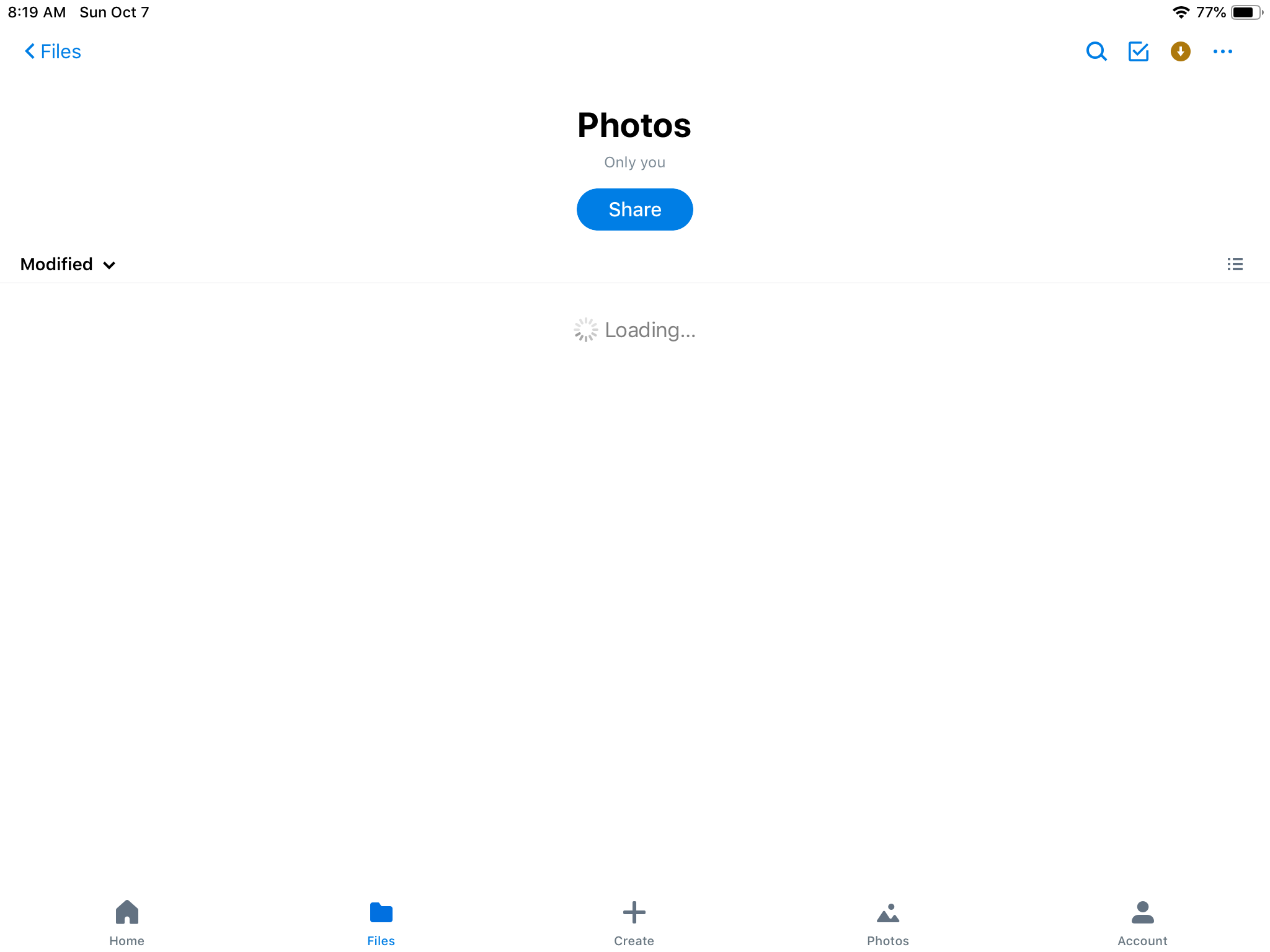 Solved: Dropbox became very slow and freezes after iOS 12