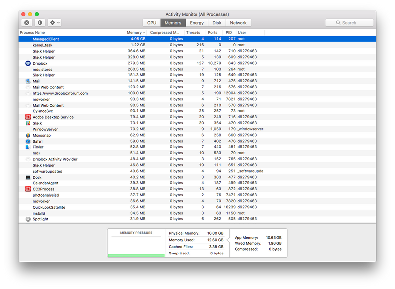 Solved: ManagedClient process consumes so much memory it c