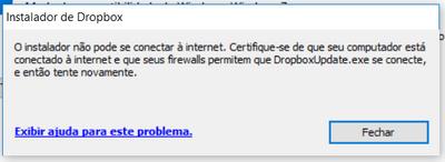 Erro de instalação - Windows 10 Pro