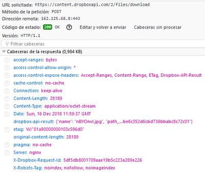 download file API JS - Dropbox Community - 318147