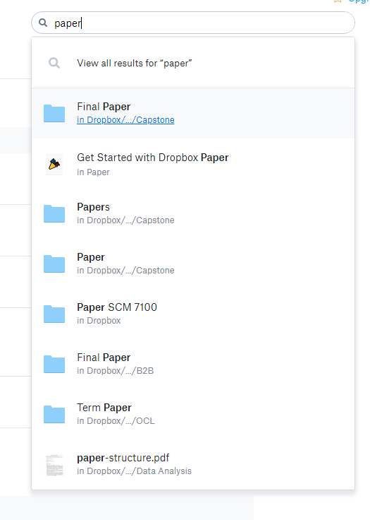 Find folder containing specific files - Dropbox Community - 319382