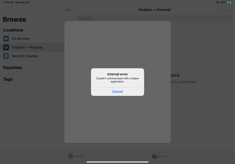 Solved: Dropbox Does Not Work with iOS Files App - Dropbox