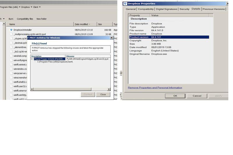 F-Prot reported Dropbox Client virus.jpg