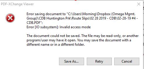 Solved Error Saving Document From Dropbox Dropbox Community 331647
