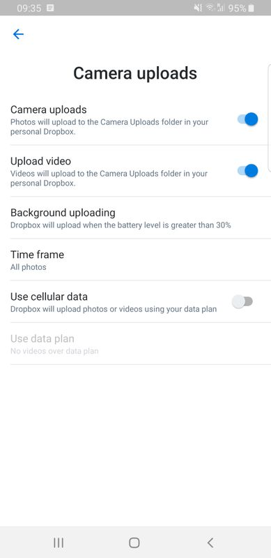Solved: Photo sync from Samsung Galaxy not instant - Dropbox
