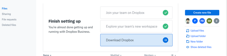 Solved: Dropbox for Business API Access token login proces