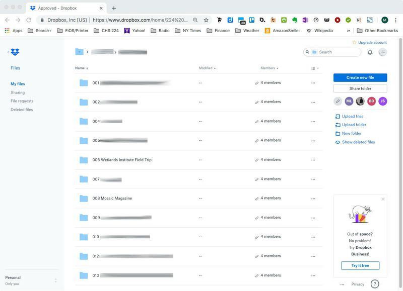 File listing displays for an instant and then disa    - Dropbox